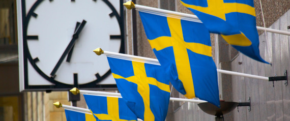 SWEDEN FLAG CLOCK