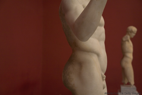 penis from a greek statue