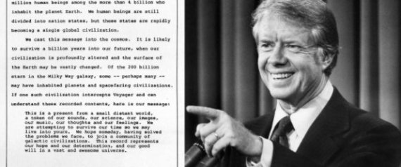 JIMMY CARTER VOYAGER MESSAGE