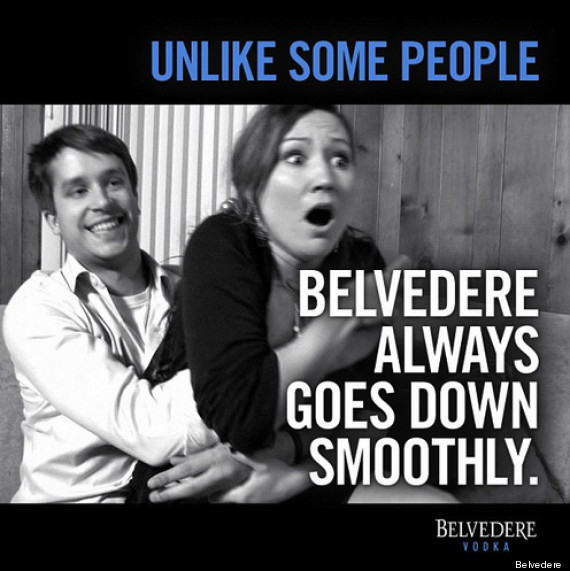 Belvedere vodka goes down easily