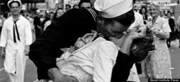 Kissing Sailor Photograph Couple Identified As George