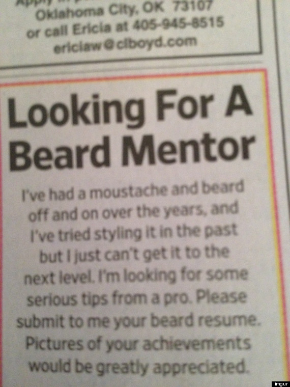 beard mentor needed