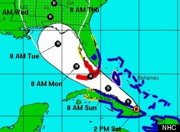 Hurricane Isaac Path Forecast Cone Tropical Storm