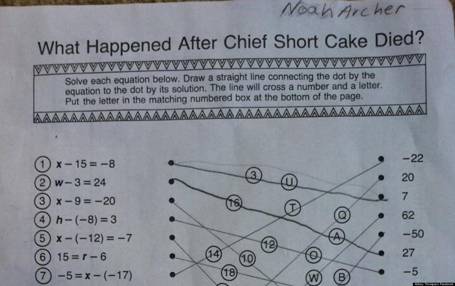 Math Homework For High School