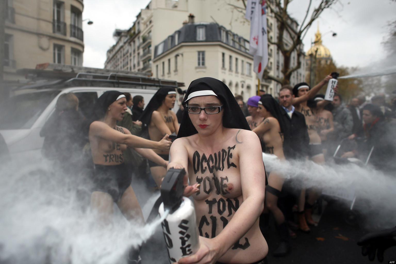 Image result for femen nun