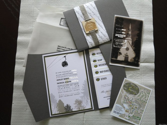 Crosshatch Wedding Invitations