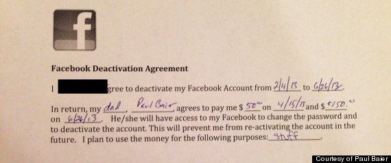 Quit Facebook Agreement