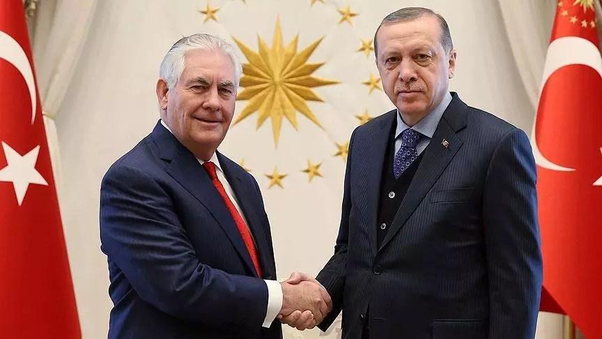 Erdoğan conveys Turkey's regional priorities to Tillerson in meeting