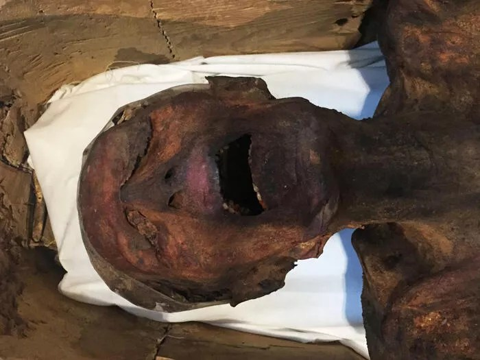 Screaming Mummy displayed in Egypt museum