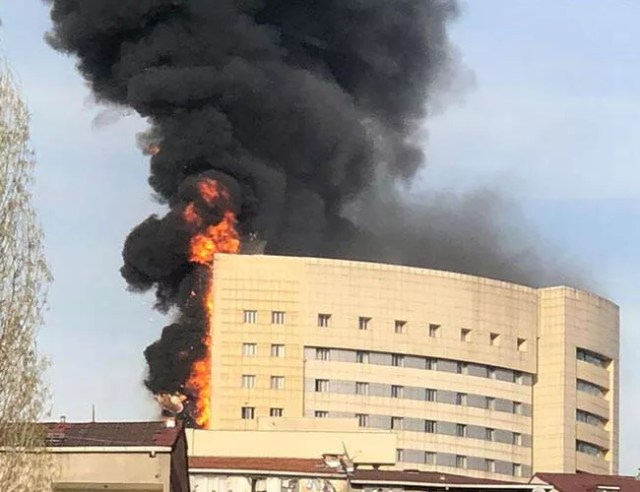 Fire at hospital in Istanbul's Gaziosmanpaşa brought under control, no casualties reported
