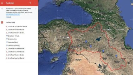Turkey demands Google to remove 'Kurdistan' map: Minister