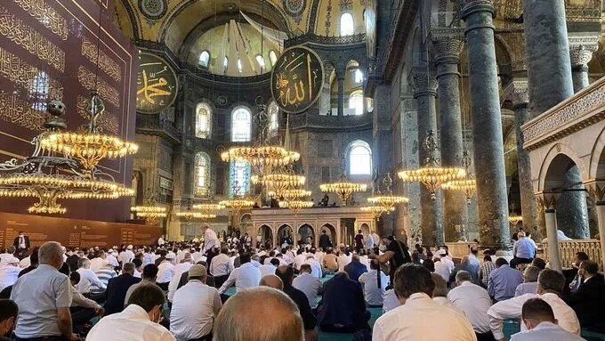First Muslim prayers held in Hagia Sophia after 85 years