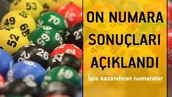 On Numara sonuçları açıklandı... 2 Temmuz On Numara MPİ sorgulama