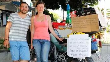 Ukraynalı genç çifte Antalya'da büyük şok! Böyle yardım istediler
