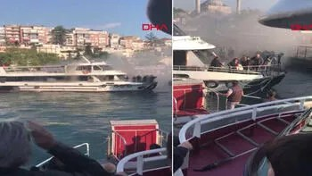 İstanbul Boğazı'nda can pazarı! Yolcu teknesi alevlere teslim oldu