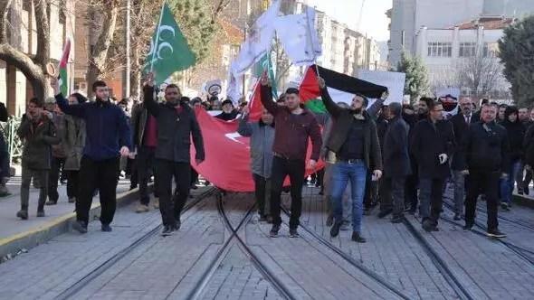 Eskişehirde Kudüs protestosu