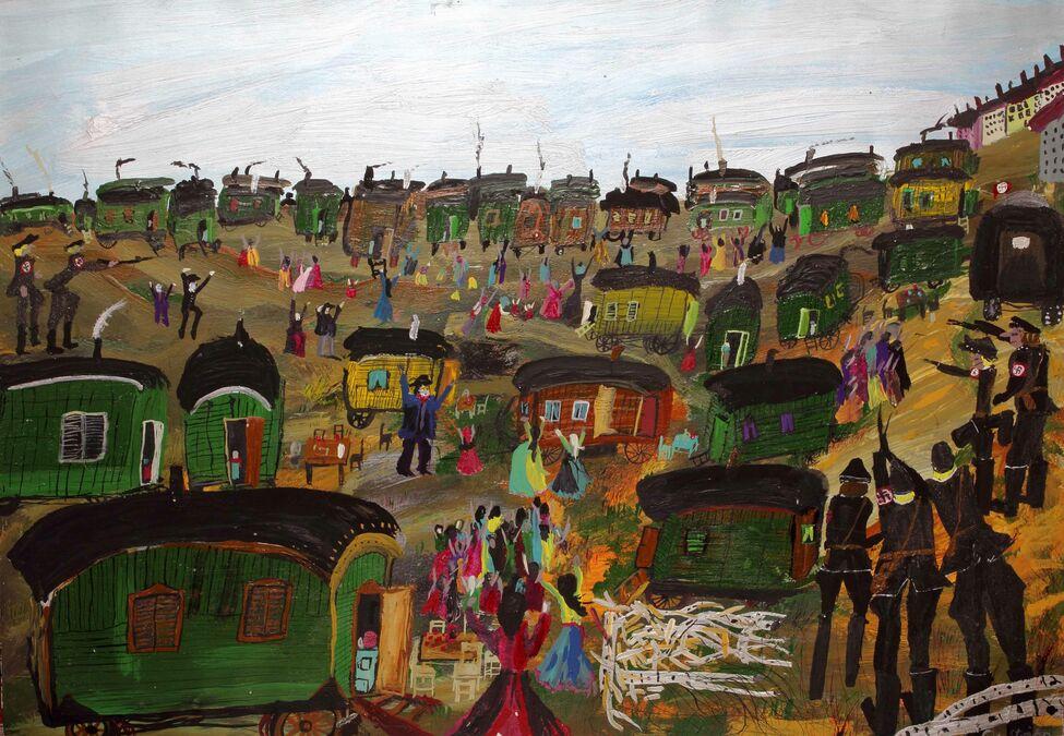 Ceija Stojka, la artista romaní que sobrevivió al Holocausto nazi para pintarlo