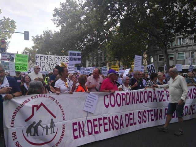 La Coordinadora Estatal por la Defensa del Sistema Público de Pensiones llama a la movilización por la defensa de nuestros derechos
