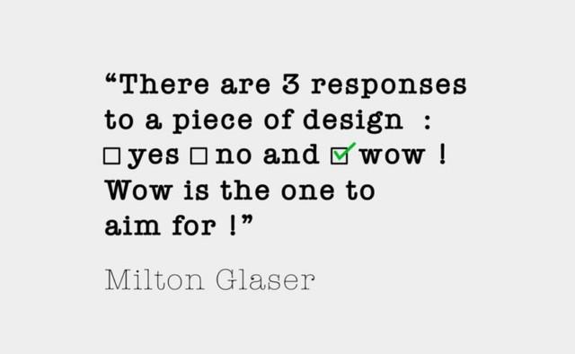 Milton Glaser citazione