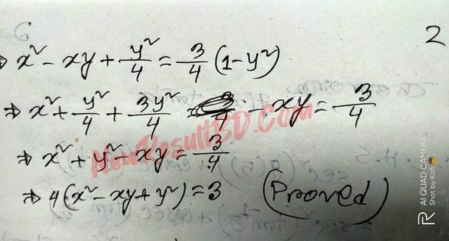 HSC Higher Mathematics Assignment Answer 2021 pdf download 55