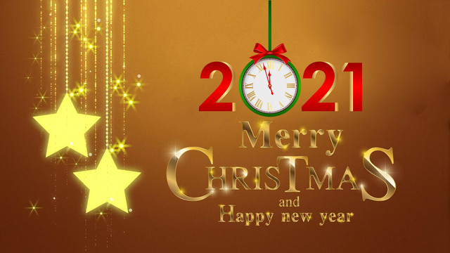 Merry Christmas Happy New Year Images 2021