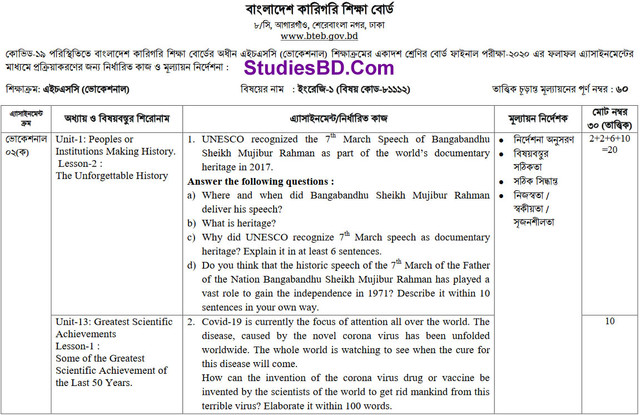 HSC Vocational English Assignment 1