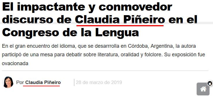 Claudia Piñeiro por Claudia Piñeiro