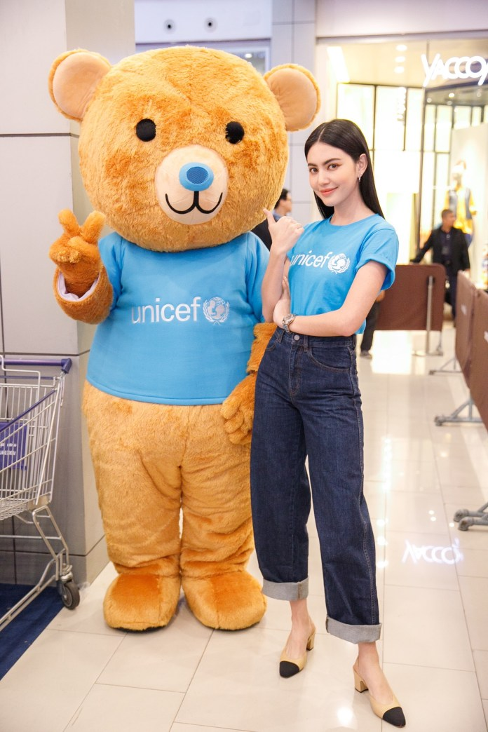 Friend-of-UNICEF-Mascot-Teddy-Blu