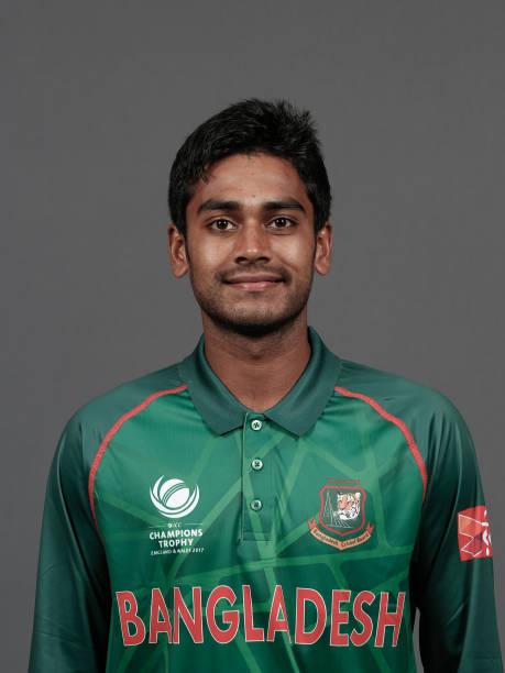 BIRMINGHAM-ENGLAND-MAY-26-Mehedi-Hasan-Miraz-of-Bangladesh-poses-for-a-picture-during-the-Bangladesh