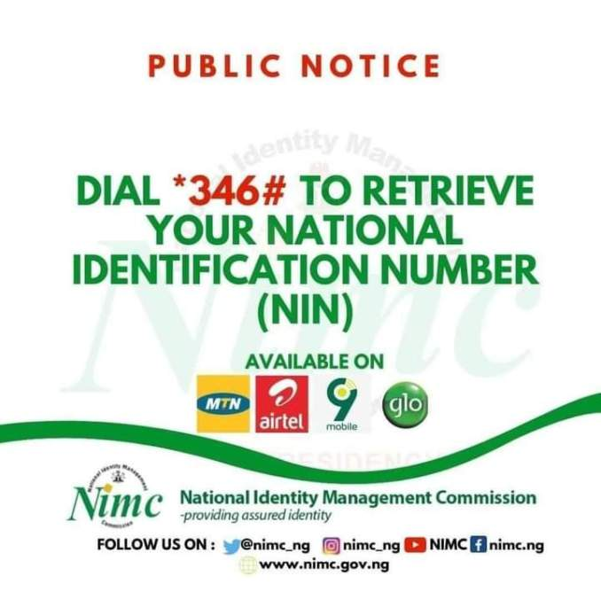 General Code To Verify My Sim Using My NIN On My Mobile Phone