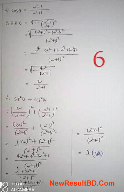 Class 9 Math 6th Week Assignment Answer
