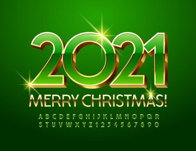 vector-chic-greeting-card-happy-new-year-2021-shiny-green-gold-font-premium-elegant-3d-alphabet-lett