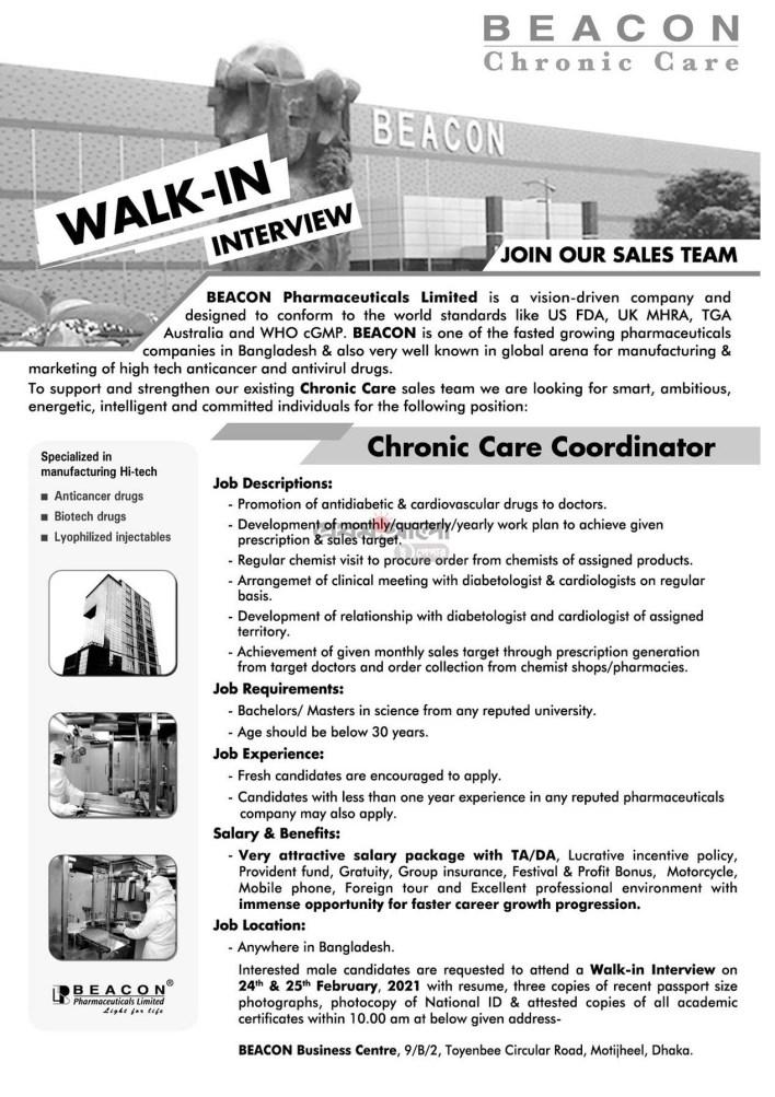beacon-pharmaceuticals-limited-job-circular-2021