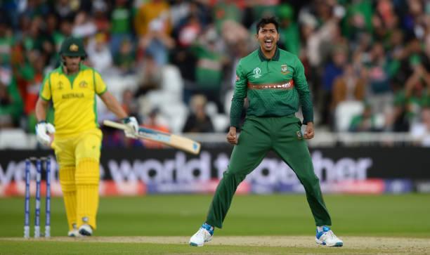 NOTTINGHAM-ENGLAND-JUNE-20-Soumya-Sarkar-of-Bangladesh-celebrates-after-dismissing-Aaron-Finch-of-Au