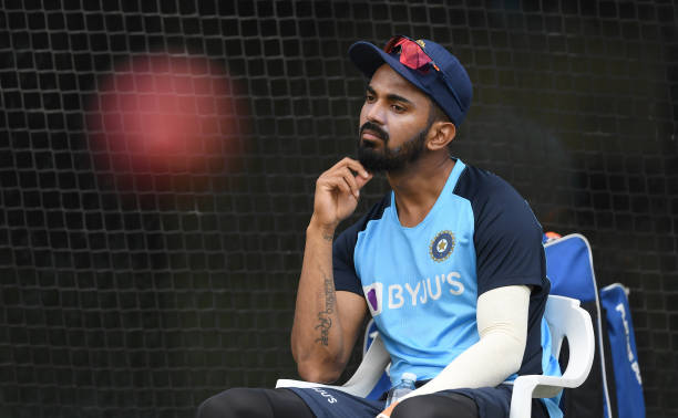 KL-Rahul-of-India-looks-on-during-an-India-nets-session-at-Melbourne-