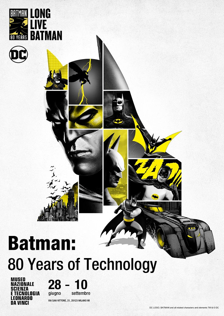 BATMAN: 80 YEARS OF TECHNOLOGY – la mostra che celebra gli 80 anni del supereroe di Gotham City