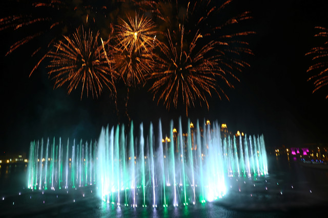 La Palm Fountain es la nueva fuente más grande del mundo (REUTERS)