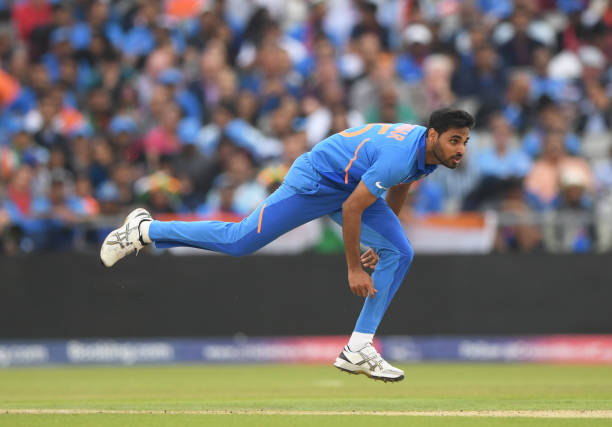Bhuveneshwar-Kumar-of-India-bowls-during-the-Semi-Final-match-of-the-ICC-