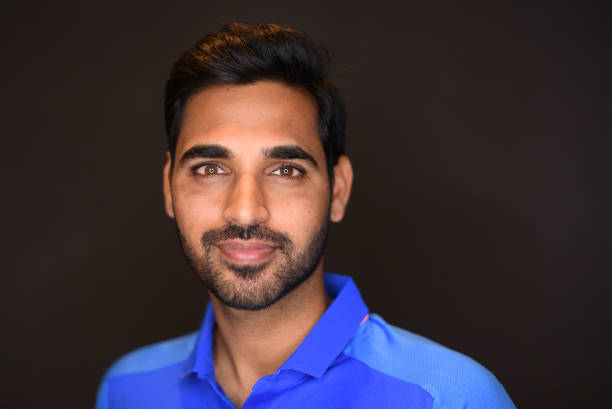 LONDON-ENGLAND-MAY-24-Bhuvneshwar-Kumar-of-India-poses-for-a-portrait-prior-to-the-ICC-Cricket-World