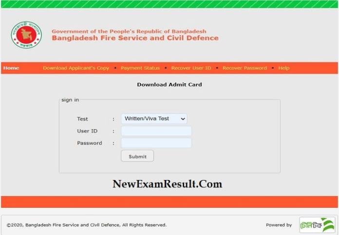 fire-service-admit-card