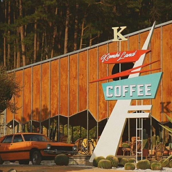 kombi land đà lạt, cà phê vườn xương rồng ở đà lạt