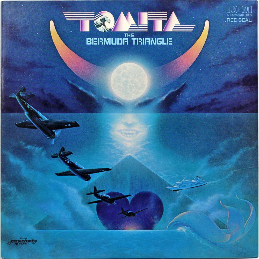 """Portada del vinilo """"The Bermuda Triangle"""", seleccionable en la película"""