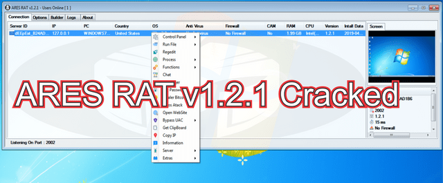 ARES RAT v1.2.1 Cracked