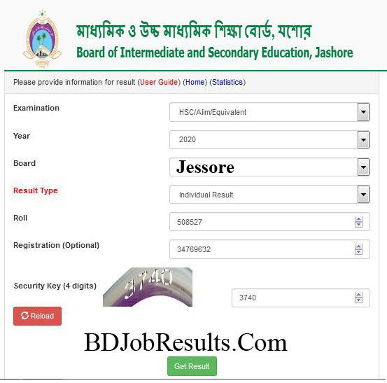Jessore-Board-HSC-Result-2020