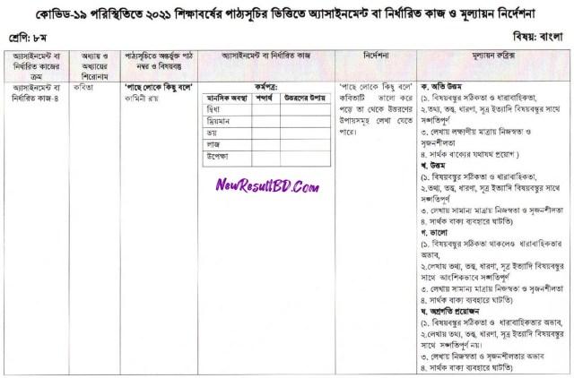 Class 8 Bangla 13th Week Assignment 2021