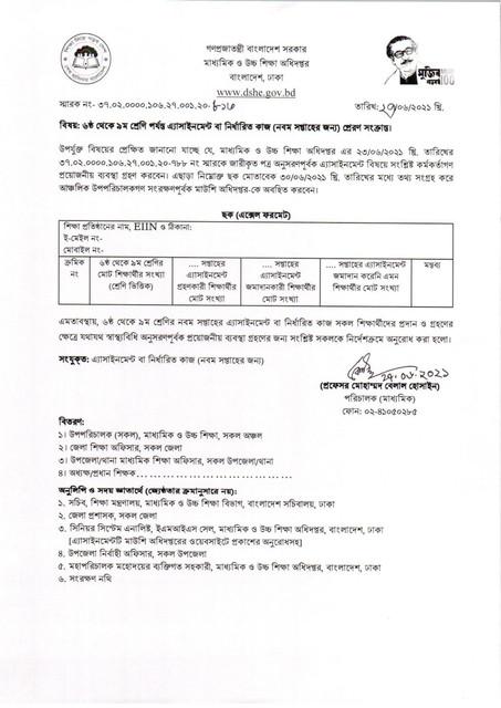 Class 6 Bangla Assignment Answer 2021 PDF Download