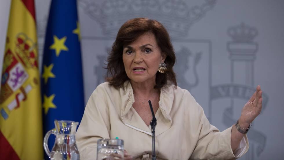 Vídeo   Carmen Calvo dice en TVE que Primo de Rivera «es una víctima»