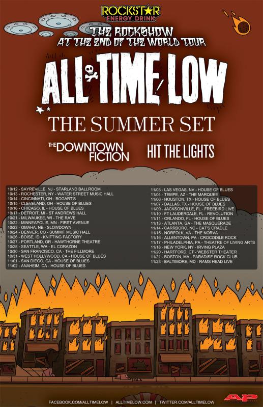 all time low announce fall tour idobi