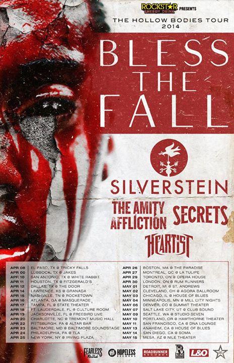 blessthefall 2014 tour