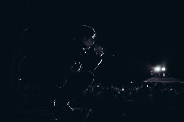 Andy Biersack of Black Veil Brides performing with The Misfits